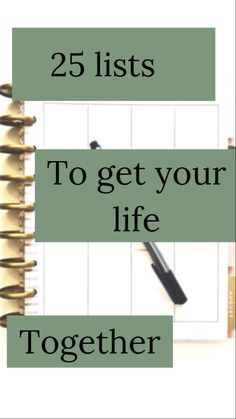 25 lists 25 lists 25 lists to get your life together<br> Life Binder, Life Planner, Happy Planner, 2015 Planner, Passion Planner, Planner Ideas, Planning And Organizing, Planner Organization, Self Organization