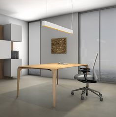 Timber LED Pendellampe up/down dimmbar von Aqlus Biffi Luce Aluminium, Conference Room, Lighting, Modern, Table, Furniture, Design, Home Decor, Latest Technology
