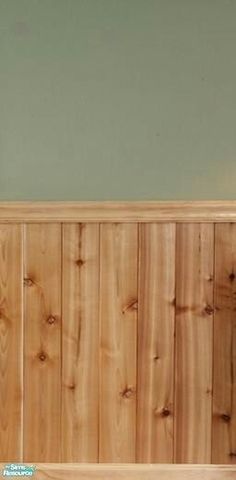 FluffyAuntyDi's Knotty Pine Half Wall Paneling/This kind of paneling, color green, and a border renovation Wood Paneling Knotty Pine Paneling, Knotty Pine Walls, Wood Paneling, Paneling Ideas, Knotty Pine Decor, Wainscoting Ideas, Pine Trim, Wood Trim, Wall Paint Colors
