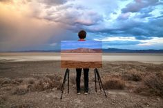 Wasteland Images Interrupted by the Human Type and Real Landscapes