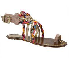 Linda rasteirinha da marca Tanara Brasil, coleção primavera-verão. #rasteira #sandália #moda