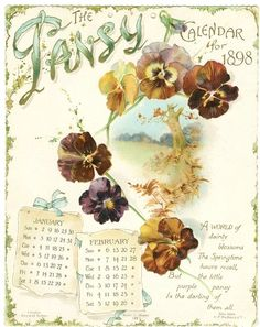The Pansy Calendar for 1898