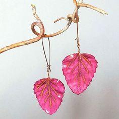 Switzerland, Porcelain, Leaves, Pendant Necklace, Drop Earrings, Instagram Posts, Handmade, Jewelry, Jewellery Making