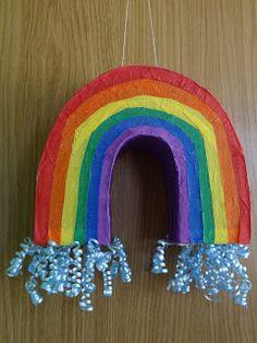 DIY Rainbow Pull-String Pinata