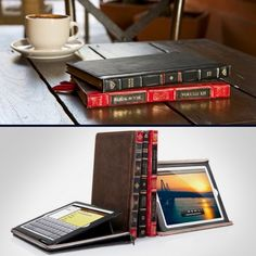 Leather Book Case for iPad Leather Books, Ipad Case, Ipod, Best Gifts, Bookcase, Gadgets, Products, Appliances, Ipods