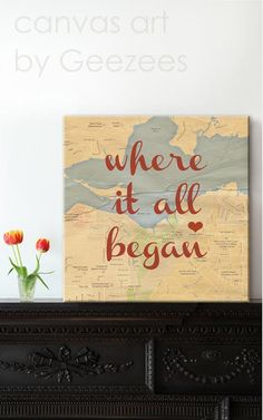"""""""Where it all began"""" - Such a sweet keepsake to remind you of where your love story started!"""