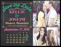 weddingpaperdivas.com save the dates with calendar postcards .79
