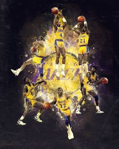 RareInk – Derek Jeter / Lakers by Mike Harrison, via Behance Larry Bird, Showtime Lakers, Air Max 2009, Baskets, Air Max Day, Nba Championships, Basketball Teams, Sports Teams, Basketball Legends