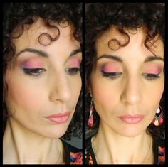 Colorful Spring / Coral - Pink - Purple (Corail - Rose - Violet) avec les fards Makeup Geek