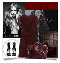 """Marsala Dress"" by rosalie45 ❤ liked on Polyvore featuring H&M, Carven and Stuart Weitzman"