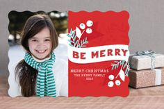 Be Merry Berries by Angela Marzuki at minted.com