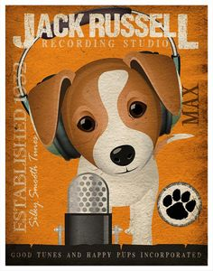 Jack Russell Terrier Dog Music Print!