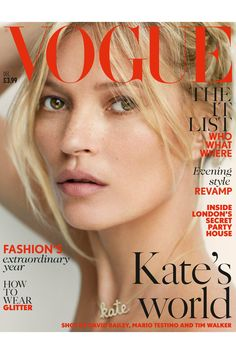 Kate Moss for Vogue UK December 2014 by Mario Testino