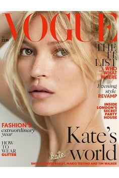 Kate Moss British Vogue Cover December (Vogue.com UK)