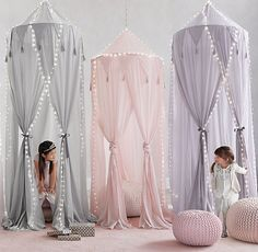 RH baby&child's Cotton Voile Play Canopy:A little imagination goes a lot further when it's accompanied by our hanging canopy, which transforms any nook into an enchanted enclosure just perfect for play.                                                                                                                                                                                 More