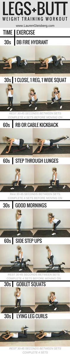LEGS + BUTT WEIGHT TRAINING WORKOUT | Find full workout plans at: www.LaurenGleisberg.com