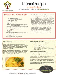I'm frequently asked for a kitchari recipe. Over the last decade I've maybe been asked 300 times. One might think I would have posted a kitchari recipe like this in my first blog post and avoided a few dozen of those emails asking for a recipe. If you want the recipe – click the image and print it. And if you're wondering why so many people want to eat kitchari, read on.