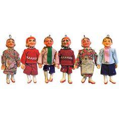 ŠEST STARÝCH LOUTEK | Aukro Marionette, Old Toys, Vintage Toys, Puppets, Ronald Mcdonald, Retro, Fictional Characters, Art, Art Background