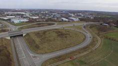 Bundesstraße B404 - Autobahn Ausfahrt und Einfahrt - Panorama Videos Dok...