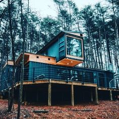 #shippingcontainer #containerhouse #shippingcontainers #containerhome #shippingcontainerhouse #shippingcontainerhome #containerhomes… Storage Container Homes, Building A Container Home, Container Buildings, Container House Design, Tiny House Design, Container Houses, Shipping Container Restaurant, Shipping Container Cabin, Sea Containers