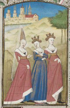 Genève, Bibliothèque de Genève, Ms. fr. 180: Christine de Pisan, La Cité des dames · 2e moitié du XVe siècle     . (http://www.e-codices.unifr.ch/fr/list/one/bge/fr0180)