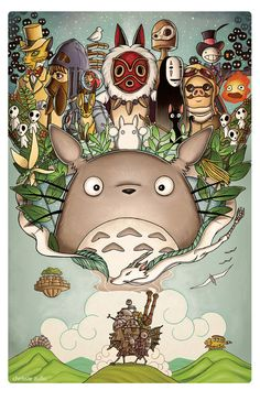 A Tribute to Hayao Miyazaki by chrissie-zullo.deviantart.com on @deviantART