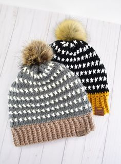 Grab the free crochet hat pattern to make your own bold, thick and super warm Uri Beanie. Designed during 2021 Winter Storm Uri! Single Crochet Stitch, Basic Crochet Stitches, Afghan Crochet Patterns, Crochet Basics, Hat Patterns, Vest Pattern, Knitting Patterns, Diy Crochet Hat, Free Crochet