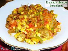 Salado Dulzor: Ensalada tibia de berenjenas