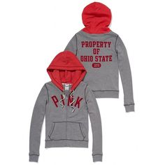 Victoria's Secret The Ohio State University Perfect Zip Hoodie ($55) ❤ liked on Polyvore
