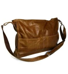 Messenger bag  vintage distressed leather cross-body purse