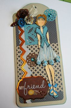 My Friend Prima Doll Tag  Handmade Paper Tag for a by Smiles4Paper, $6.00
