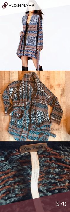 """Free People Iona Sweater It's like wearing a blanket! Free People's signature rugged look. RePoshing because I have a """"go to"""" sweater that I love and this beauty has been hanging in my closet since I bought it. Runs oversized- a small could easily fit anywhere between a 2 and a 14. Free People Sweaters Cardigans"""