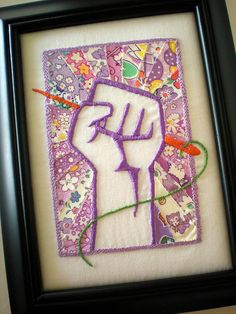 I don't particularly like the image, but I like the idea of creating art from fabric applique and hand stitching :)