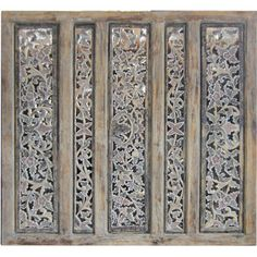 """You'll love the 44"""" x 44"""" Balinese Carved 5 Panel Room Divider at Wayfair - Great Deals on all Décor  products with Free Shipping on most stuff, even the big stuff."""