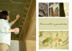 My beloved collegue, papier collé craftsman Jan Zijlstra. Working at Manor Westerlee. Photo by Lotte-Marijn
