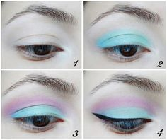 Live out your best pastel goth life with this eyeshadow www.DelicateCaressCosmetics.com