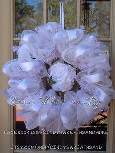 Wedding Wreath Custom order your Wedding by Cindyswreathsand, $65.00