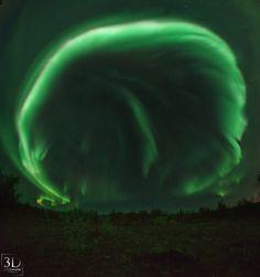 Auroras boreales desde M̼rmansk, Rusia РEl Universo Hoy