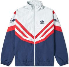 Buy the Adidas Sportive Track Jacket in Collegiate Navy from leading mens fashion retailer END. - only Fast shipping on all latest Adidas products Gym Jacket, Sports Jacket, Adidas Jacket, University Outfit, What To Wear Today, Jackett, Swag Outfits, Sport Wear, Windbreaker Jacket