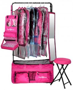 Pack 2 Rack is the ultimate rolling dance bag with a built in clothing rack.