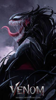 Venom by IrenBee Marvel Comics – Marvel Univerce Characters image ideas tips Venom Comics, Marvel Venom, Marvel Comics Art, Marvel Heroes, Marvel Avengers, Comic Art, Comic Books Art, Gift Tattoo, Venom Dragon