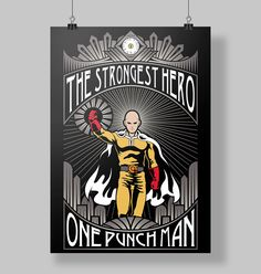 Poster One Punch Man - Véi Nerd