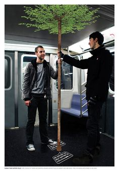 Brilliant advertsising in the metro. http://arcreactions.com/#