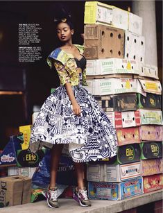 African inspired editorial l Harleen Dziire & Jozi Mabonenga by Ross Gareett for Elle South Africa - January 2013