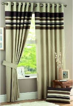 Harvard Chocolate Lined Eyelet Curtains Above you can see the Harvard Chocolate Lined Eyelet curtain