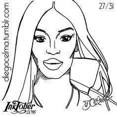 #InkTober Number 27: Naomi Campbell ✒ #InkTober2016 #drawing #illustration #illustrationoftheday #ink #inkdrawing #handmade #sketch #sketching #art #fanart #NaomiCampbell #model #actress #activist #woman #sexy #beautiful #topmodel #portrait #icon https://www.facebook.com/diegocelmailustrador/