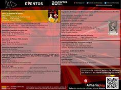 AGENDA: 20 de noviembre martes. Encuentra todos los eventos de cultura y ocio de Almería en Almeriaplay.com
