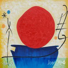 """Joan Miró, el Maestro que pintaba como niño... Es uno de los mayores exponentes del surrealismo en el arte universal, nació en Barcelona, España, el 20 de abril de 1893. Considerado por la crítica como creador de una atmósfera poética sustentada en lienzos ricos en color, con collages, acuarelas, escultura y escenografías. Además de pintor, fue escultor, grabador y ceramista. Falleció en 1983. Imagen: """"El sol rojo""""."""