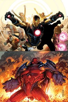 The Uncanny Avengers vs. The Red Skull