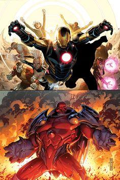 The Uncanny Avengers vs. The Red Skull